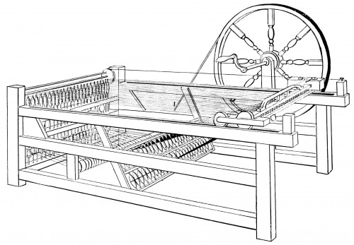 Machine à filer le coton anglaise (spinning jenny)
