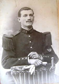 Mon arrière-grand-père en uniforme vers 1910