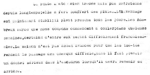 Extrait du JMO du Régiment Indigène du Tchad pour Juillet 1915 (source : SHD - Mémoire des Hommes)