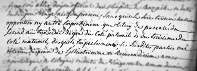 Extrait de l'acte de mariage de Joseph et Marguerite Hurlaux