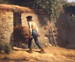 Jean Francois Millet - Paysan avec brouette