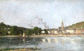 La Seine à Caudebec-en-Caux, par Eugène Boudin