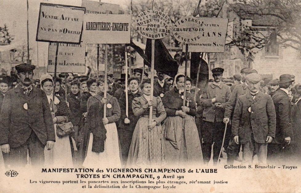 Printemps 1911 : la révolte des vignerons de Champagne – Auprès de nos Racines