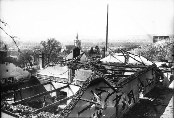 Pillage à Ay en Champagne au printemps 1911
