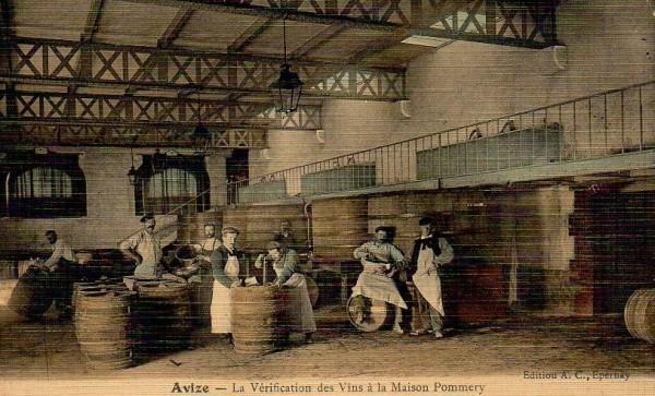 Vendangeoir de la Maison Pommery à Avize