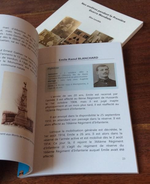 Chapitre sur le parcours d'un soldat pendant la Première Guerre Mondiale