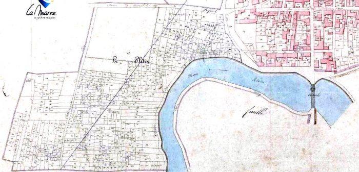 Le Plitre sur le cadastre napoléonien de Bisseuil (source : AD51 - cote 3 P 766/15)
