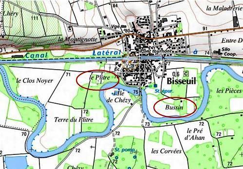 Le Plitre et Bussin à Bisseuil (source : Géoportail, IGN)