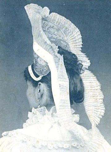 Exemple de coiffe portée dans le Pays de Caux