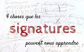 Signatures-Genealogie-Video
