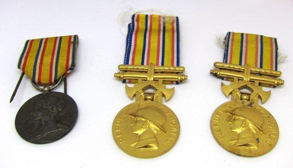 Médailles de Sapeurs Pompiers