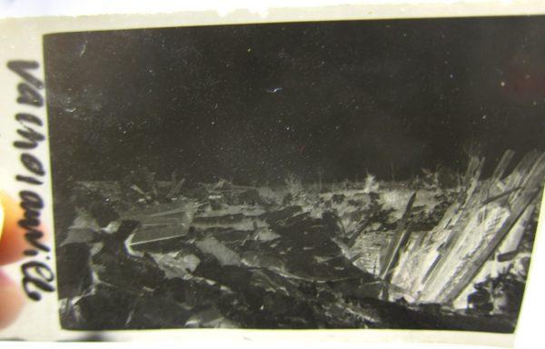 Négatif d'une photographie de Vacherauville pendant la Première Guerre Mondiale (?)