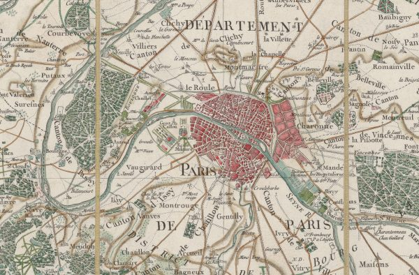 Paris sur la Carte de Cassini (source : Gallica / BNF)