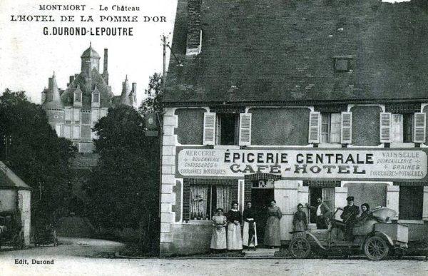 L'Auberge de la Pomme d'Or et le Château de Montmort au début du XXème siècle