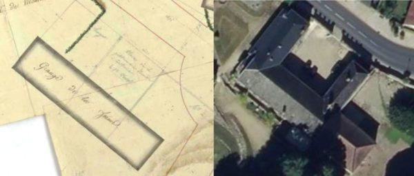 Comparaison de la maison actuelle avec un plan de 1797
