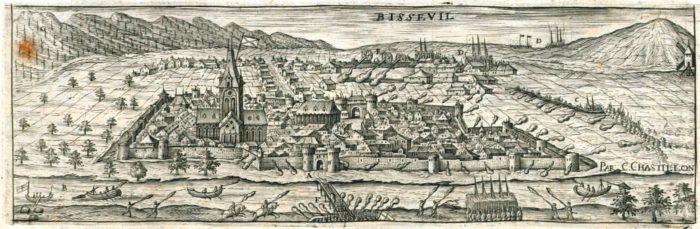 Bisseuil dans la Topographie Française de Claude Chastillon (source : Gallica / BNF)