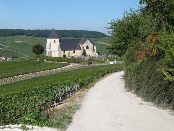 Chemin menant des Chaufours à l'église de Chavot