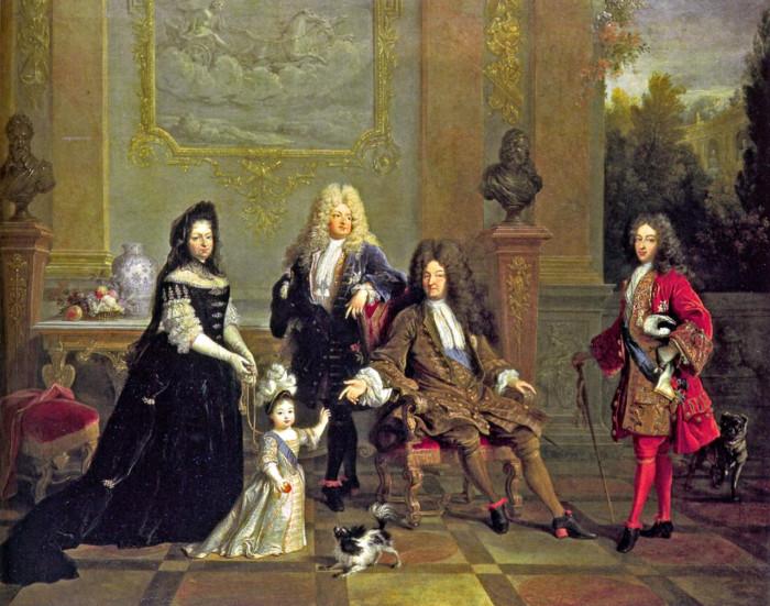 Louis XIV et sa famille