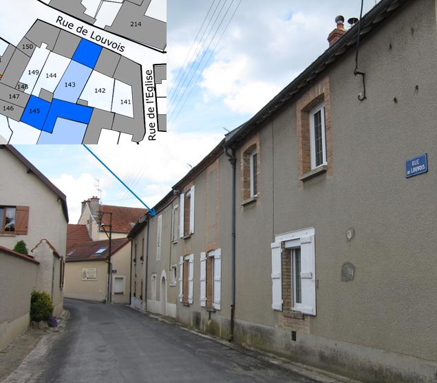 La rue de Louvois et la maison habitée par Jean Côme Dueil et Hilaire Guiset