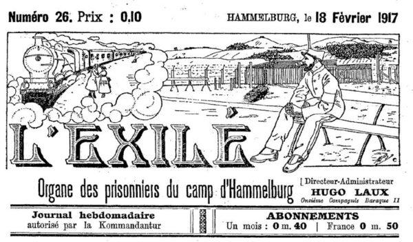 L'Exilé, journal des prisonniers du camp de Hammelburg (source : Gallica / BNF)