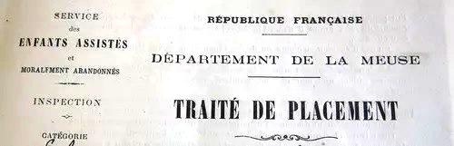 Photographie d'un traité de placement
