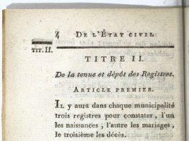 Code du divorce et de l'Etat-Civil - Décret du 20 septembre 1792