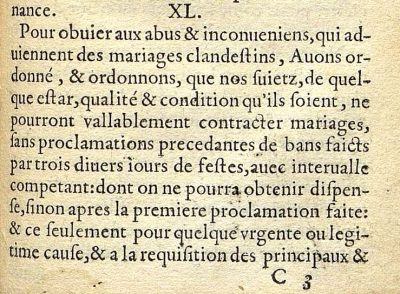 Ordonnance de Blois de 1579 (Henri III)